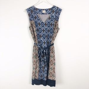 Anthropologie Coquille IKAT Belted Dress